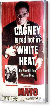 White Heat, James Cagney, Virginia Canvas Print by Everett