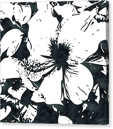 Hibiscus Canvas Print - White Hibiscus- Art By Linda Woods by Linda Woods