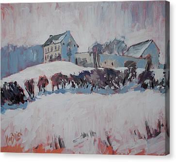 Canvas Print - White Hill Zonneberg Maastricht by Nop Briex