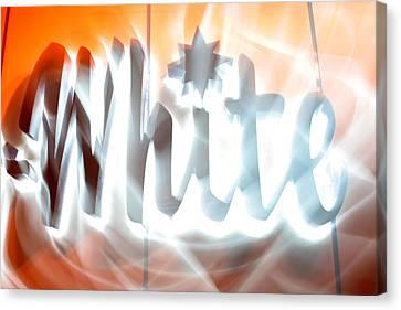 White Hot Canvas Print