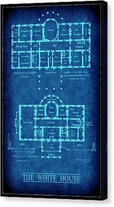 White House Blueprint Canvas Print