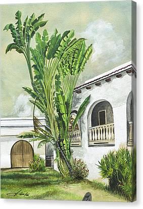White House San Juan Canvas Print by George Bloise