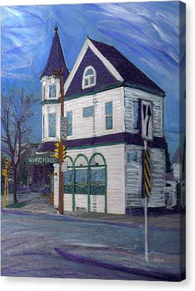 White House Tavern Canvas Print by Anita Burgermeister