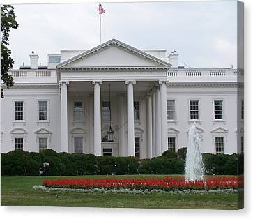 White House Canvas Print by Vijay Sharon Govender