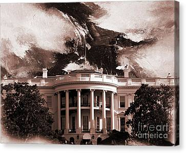 White House Washington Dc Canvas Print by Gull G