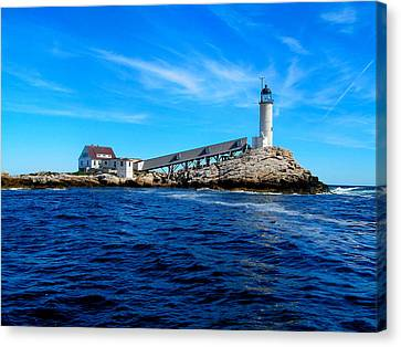 White Island Lighthouse Canvas Print by Bob Foudriat