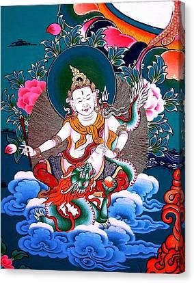 White Jambhala 4 Canvas Print by Lanjee Chee
