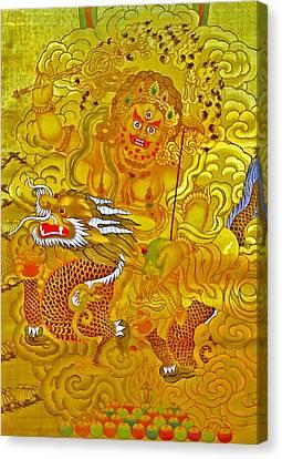 White Jambhala 5 Canvas Print by Lanjee Chee