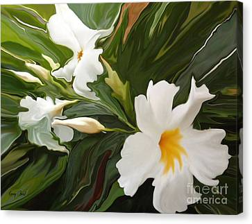 White Jasmine Canvas Print by Corey Ford