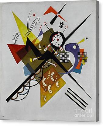 White Canvas Print by Kandinsky