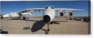 White Knight 2 Edwards Air Force Base Canvas Print by Brian Lockett