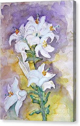 White Lilies Canvas Print by Jasna Dragun