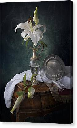 White Liliums Canvas Print