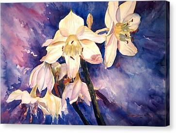 White Lillies Canvas Print by Estela Robles