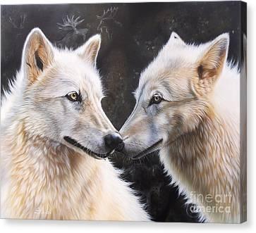 Airbrush Canvas Print - White Magic by Sandi Baker