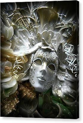 White Masked Celebration Canvas Print