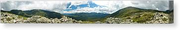 White Mountains Pano Canvas Print by Sebastian Musial
