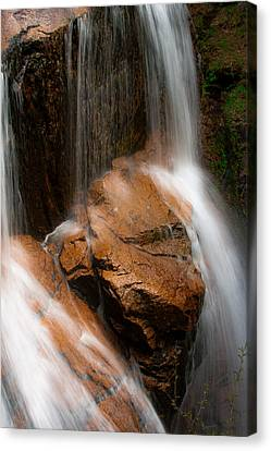 Canvas Print featuring the photograph White Mountains Waterfall by Jason Moynihan