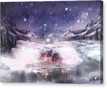 Canvas Print - White Oasis by Mo T