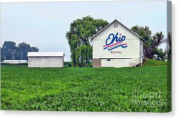 White Ohio Bicentennial Barn 8705 Canvas Print by Jack Schultz