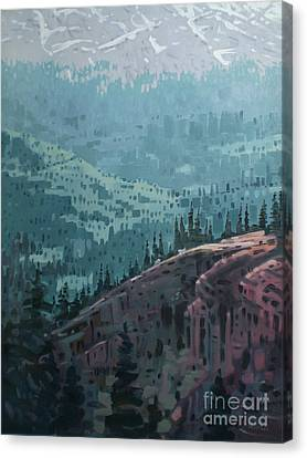 Mountain Goat Canvas Print - White Pass To The Klondike by Donald Maier