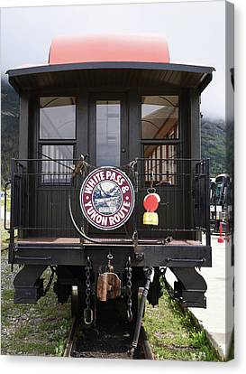 White Pass Train Caboose Canvas Print by Barbara Snyder
