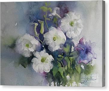 White Petunias Canvas Print