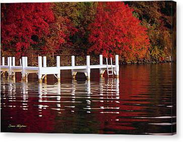 White Pier - Lake Geneva Wisconsin Canvas Print by Bruce Thompson