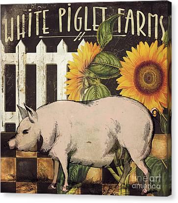 White Piglet Farms Canvas Print