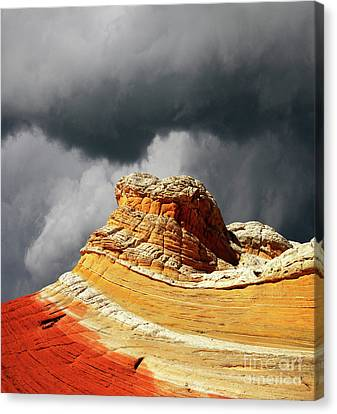 Canvas Print featuring the photograph White Pocket 35 by Bob Christopher
