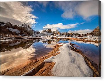 Hoodoos Canvas Print - White Pocket Northern Arizona by Larry Marshall