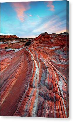 White Pocket Sunset Canvas Print by Mike Dawson