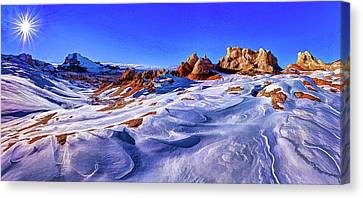 White Pocket Winter Canvas Print by ABeautifulSky Photography