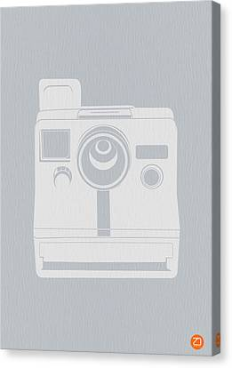 White Polaroid Camera Canvas Print by Naxart Studio