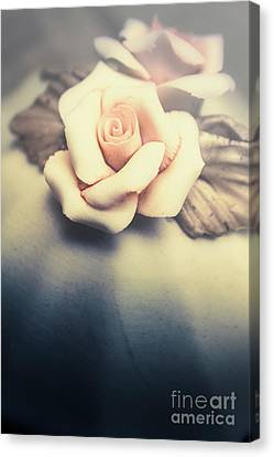 White Porcelain Rose Canvas Print