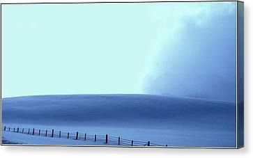 White Powder Wave Canvas Print