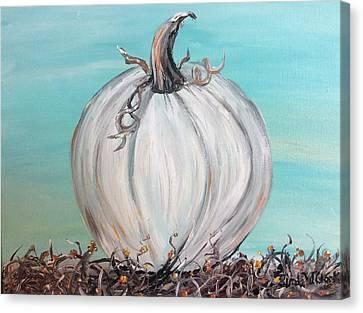 White Pumpkin Canvas Print