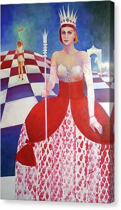 White Queen Canvas Print by Elena Bardina