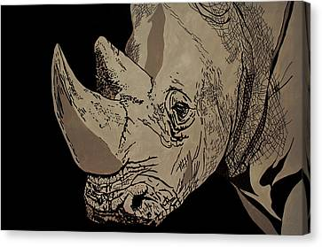 White Rhino Canvas Print by Irene Jonker