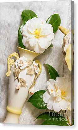 Goodbye Canvas Print - White Rhododendron Funeral Flowers by Jorgo Photography - Wall Art Gallery