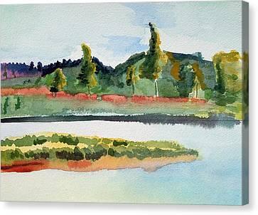 White River At Royalton After Edward Hopper Canvas Print