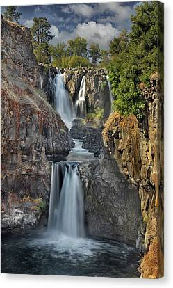 White River Falls State Park Canvas Print by David Gn