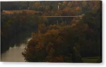White River Foliage Canvas Print