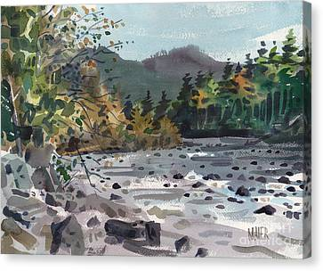 White River In Autumn Canvas Print by Donald Maier