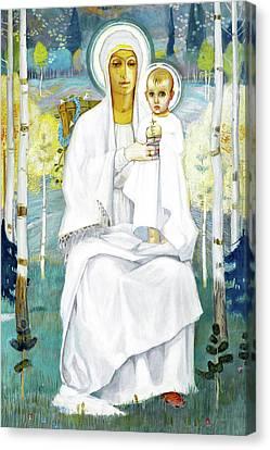 White Robes Canvas Print by Munir Alawi