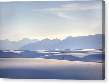 Hdr Landscape Canvas Print - White Sands Blue Sky by Peter Tellone