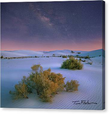 White Sands Starry Night Canvas Print