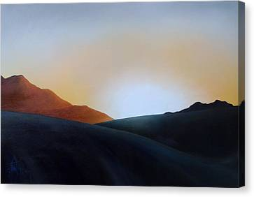 White Sands Sunset Canvas Print by Debbie Anderson