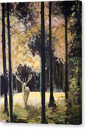 White Stag Canvas Print by Melissa Herrin