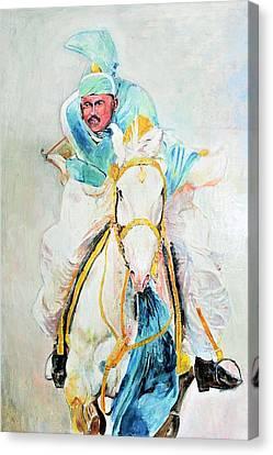 White Stallion Canvas Print